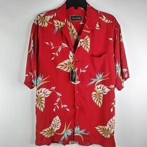 NWT Ocean Pacific Men's Small Red Hawaiian Shirt